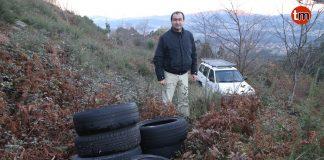 Investigan la aparición de neumáticos en los montes de Gondomar