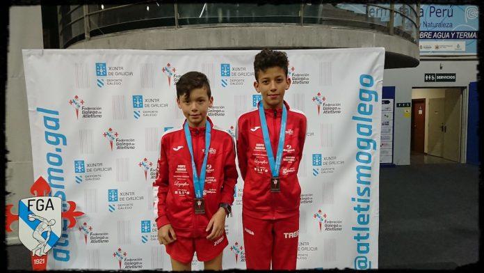 Oro y bronce para los hermanos Sierpes en el Campeonato Gallego de Pista Cubierta