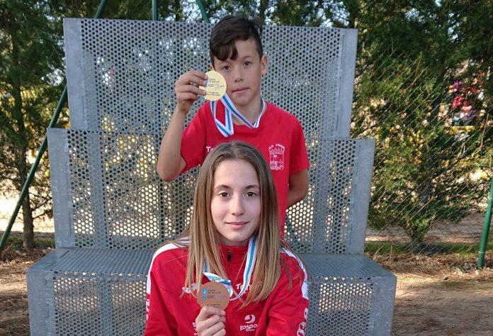 Oro y un broce para el atletismo Trega en el Campeonato Gallego Escolar de Campo a Través