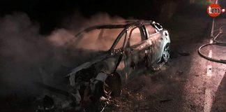 Arde un coche en marcha en A Guarda