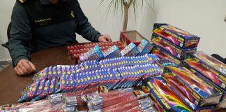 Intervienen en Baiona algo más de 3.300 unidades de artificios pirotécnicos descatalogados