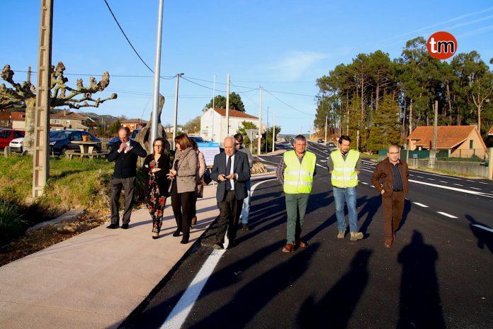 La Xunta finaliza las obras de mejora de la carretera PO-353 entre Pancenteo y Marzán