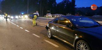 Un herido en la colisión entre dos vehículos en Gondomar