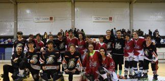 equipos infantís de Lóstregos e A Guarda Hockey Liña