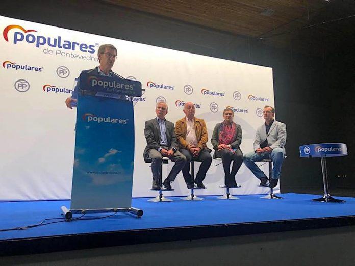 Rueda confía en que o traballo dos candidatos de Baiona, Gondomar e Nigrán se traduza nun gran resultado o 26-M