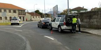 control Guardia Civil Tráfico Baiona