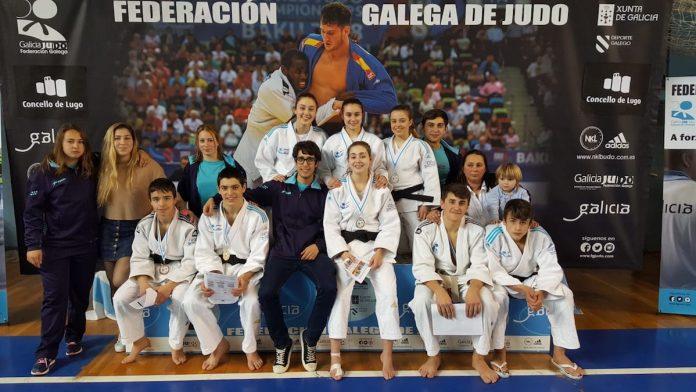 Dos oros, dos platas y cuatro bronces para el C.D. Baixo Miño en el campeonato gallego de judo