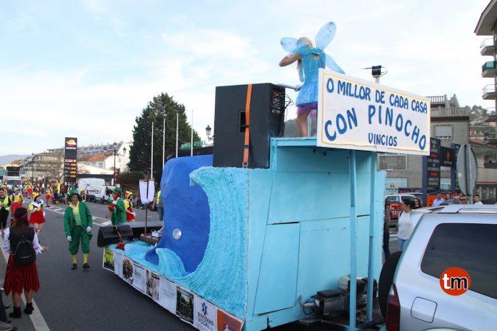 Fiesta de despedida del Carnaval en Borreiros
