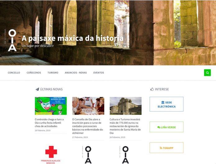O Concello de Oia estrea nova páxina web máis sinxela, funcional e accesible