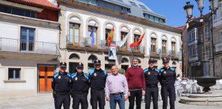 A Guarda refuerza la plantilla de la Policía Local con cuatro agentes fijos y seis auxiliares