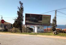 Solicitan a retirada dun valo publicitario ilegal instalado en terreos municipais de Nigrán