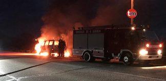 furgoneta ardiendo mougas