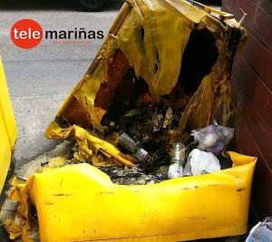 FOTO BANDALLO // Estado en el que quedó el contenedor